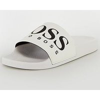 BOSS Athleisure Solar Slider, White, Size 8, Men