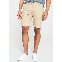 Farah Hawk Chino Shorts - Stone, Sand, Size 30, Men