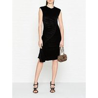 Kenzo Ruched Velvet Dress - Black