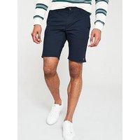 Farah Hawk Chino Shorts - Navy, Navy, Size 36, Men