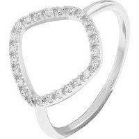 Accessorize Sterling Silver Organic Shape Ring, One Colour, Size M, Women