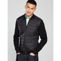 Barbour International Barbour International Baffle Zip Through Jacket, Black, Size Xl, Men