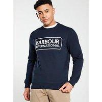 Barbour International Large Logo Motor Sweat - Navy, Navy, Size 2Xl, Men