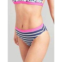 Joules Nixie Bikini Bottoms - Pink/Navy, Multi, Size 12, Women