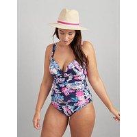 Joules Belle Bikini Bottoms - Navy Floral, Navy, Size 10, Women