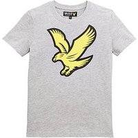 Lyle & Scott Boys Short Sleeve Eagle Logo T-Shirt - Grey, Grey, Size 4-5 Years