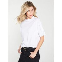 V by Very High Neck Tee - White , White, Size 20, Women
