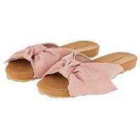 Monsoon Ollie Oversized Bow Slide Sandals - Pink, Pink, Size 7=40, Women