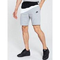 Nike Nike Sportswear Colourblock Statement Shorts, Black/White/Grey, Size S, Men