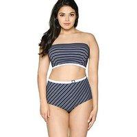 Curvy Kate Sailor Girl Bandeau Bikini Top - Navy, Navy, Size 32Gg, Women