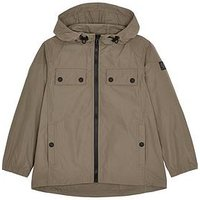 Belstaff Boys Citymaster Hooded Jacket - Brown, Bronze, Size 6 Years