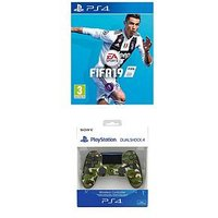 Playstation 4 Fifa 19 With Green Camo Dualshock Controller