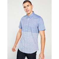 Barbour Rowlock Short Sleeved Shirt - Blue, Blue, Size 2Xl, Men
