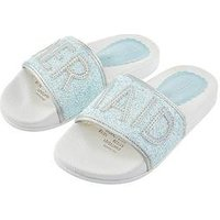 Monsoon Girls Mermaid Glitter Slider, Mint, Size 7 Younger