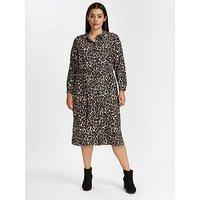 Evans Midi Shirt Dress - Animal Print , Multi, Size 24, Women