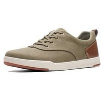 Clarks Step Isle Crew Shoe, Olive, Size 6, Men
