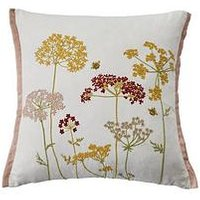 Product photograph showing Ideal Home Embroidered Bouquet Cushion