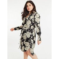 Oasis Curve Bold Bloom Shirt Dress - Multi Black
