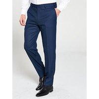 Skopes Pesaro Textured Weave Suit Trouser - Navy, Navy, Size 40R, Men