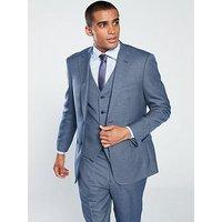 Skopes Pesaro Textured Weave Suit Jacket- Blue, Blue, Size 46R, Men
