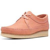 Clarks Originals Weaver Flat Shoes - Coral Suede, Coral Suede, Size 3, Women