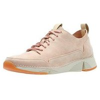 Clarks Tri Spark Trainers - Light Pink, Light Pink, Size 7, Women