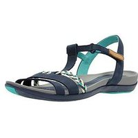 Clarks Tealite Grace Flat Sandal Shoes - Navy, Navy, Size 5, Women