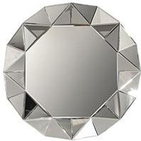 Product photograph showing Arthouse Faceted Decorative Mirror