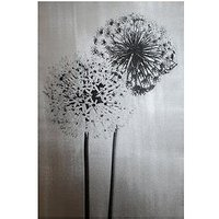 Product photograph showing Arthouse Foil Dandelions Canvas Wall Art