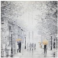 Product photograph showing Arthouse Painted Street Canvas Wall Art