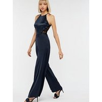Monsoon Samira Lace Back Jumpsuit - Navy