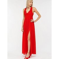 Monsoon Alexandra Lace Maxi Dress - Red