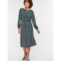 Monsoon Sorsha Print Jersey Midi Dress - Teal