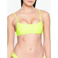 Frankies Bikinis Boots Neon Bralette Bikini Top - Yellow