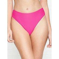 Frankies Bikinis Jenna Neon Bikini Bottoms - Pink
