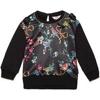 Baker by Ted Baker Girls Crew Sweat Top, Black, Size Age: 9-10 Years, Women