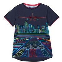 Baker by Ted Baker Boys Aiport Short Sleeve T Shirt, Multi, Size 9-10 Years
