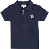Paul Smith Junior Boys Short Sleeve Zebra Badge Polo Shirt, Dark Sapphire, Size 16 Years