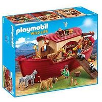 Playmobil Playmobil 9373 Wild Life Floating Noah's Ark with Functioning Crane, One Colour