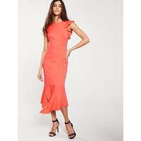 Karen Millen Karen Millen Fit And Flare Ruffle Dress