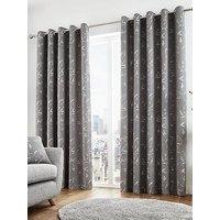Sagano Lined Eyelet Curtains 90X72