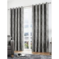 Product photograph showing Curtina Helsinki Lined Eyelet Curtains