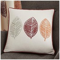 Product photograph showing Scandi Leaf Filled Cushion