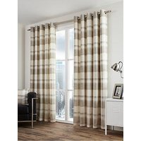 Product photograph showing Fusion Balmoral Check Lined Eyelet Curtains