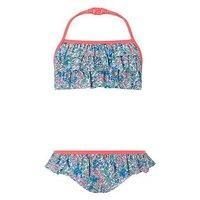 Monsoon Hannah Ditsy Bikini, Orange, Size Age: 11-12 Years, Women