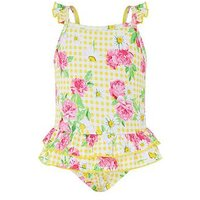 Monsoon Baby Daisy Swimsuit, Yellow, Size 0-3 Months