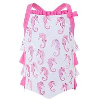 Monsoon Baby Sammy Seahorse Swimsuit, Multi, Size 2-3 Years