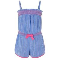 Monsoon Thea Playsuit, Blue, Size 11 Years, Women