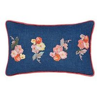Joules Hollyhock Meadow 100% Cotton Cushion