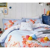 Product photograph showing Joules Hollyhock Floral 100 Cotton Percale Duvet Cover
